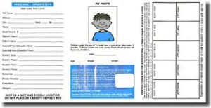 kids finger print card