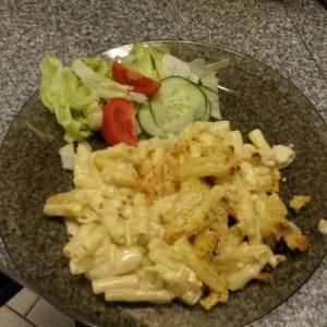 I use cream and 3 cheeses to make my mac and cheese