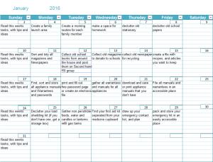 We're getting sorted January Calendar 2016