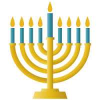 The eight branched menorah we use to celebrate chanukah