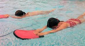 kids are learning at school, but if your school doesn't do lessons, take them to a swimming school