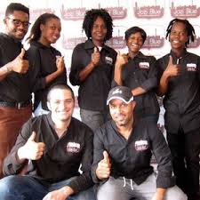 The Jozi Blue staff with owner Shmuel Montrose front left.