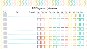 This bill payment checklist is great and you can download it free.