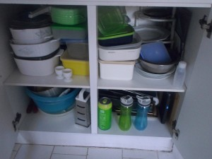 Sort your cupboards every few months, to match lids and bottoms