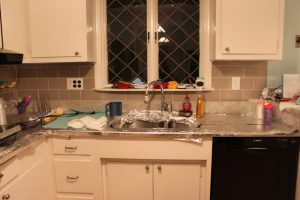 Our kitchens during Pesach look a little bizzare with all the counters covered