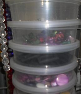 I use disposable containers to help sort out my beads
