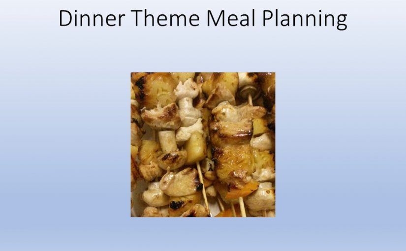 Dinner Theme Meal Planning