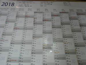 Family organising calendar